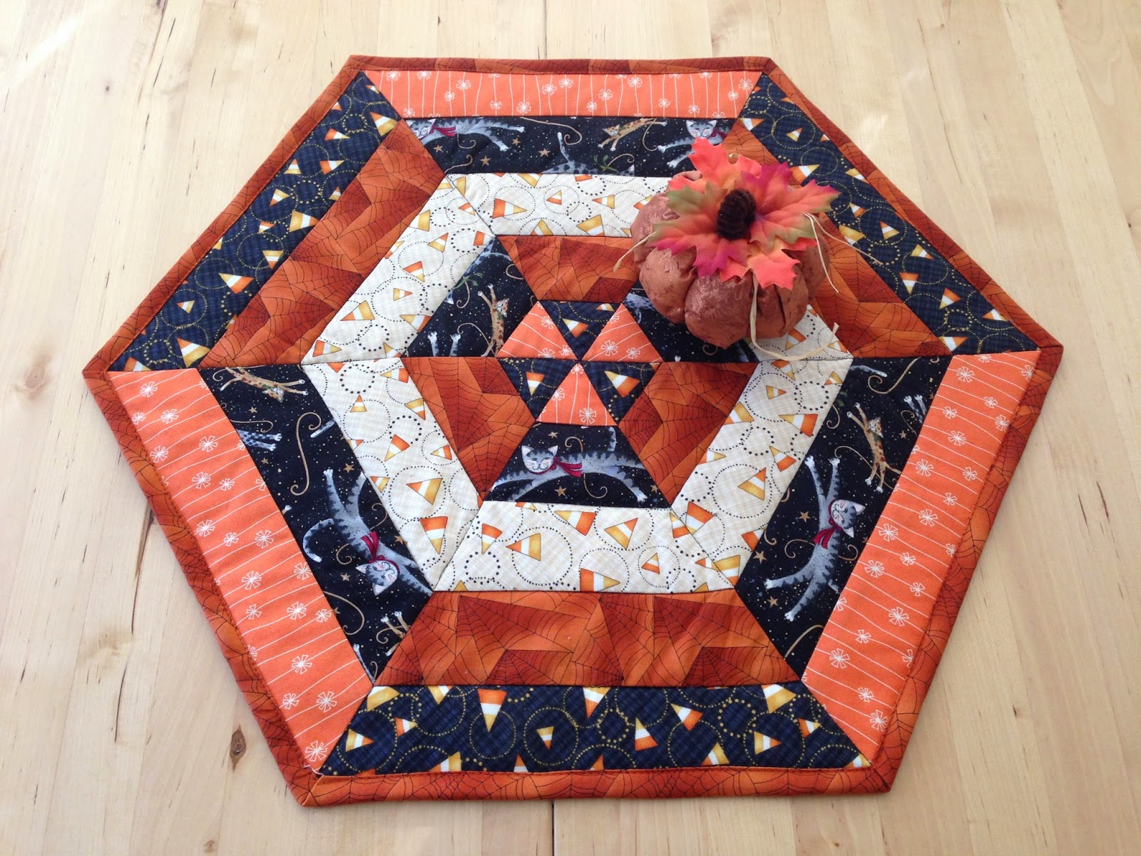 Candy Corn Table Topper Is A Quick And Easy Project
