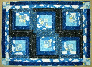 Starry Night Baby Quilt - Completed Front