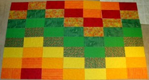 Zipper Quilt - Layout
