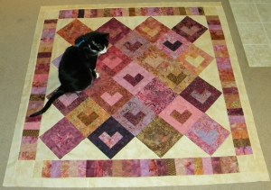 Bali Love Song - Puppy Inspecting Pieced Top