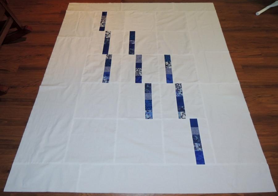 Blue Spring Rain - Pieced Quilt Top
