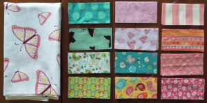 Butterfly Baby Quilt - Fabrics