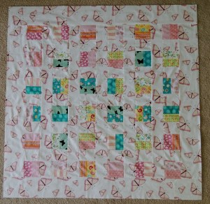 Butterfly Baby Quilt - Pieced Quilt Top
