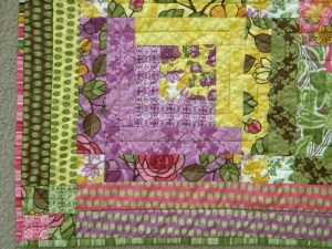 Quilt for Baby Miller - Quilting Detail