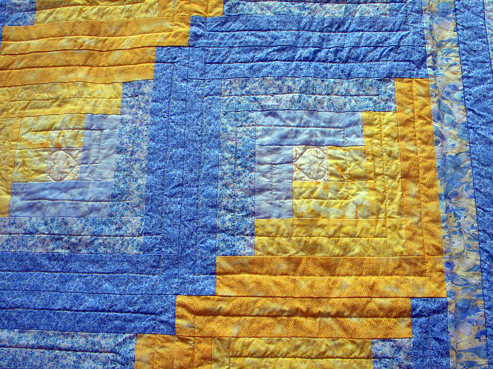 King Baby Quilt - Quilting Detail