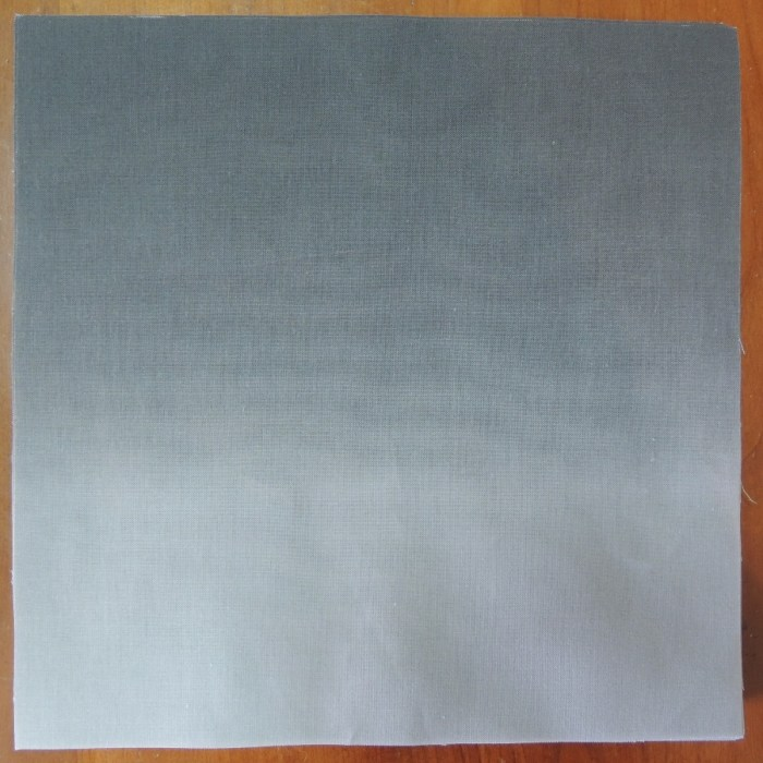 Synesthetic Alphabet - Grey Gradient Fabric