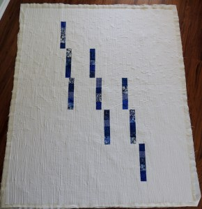 Blue Spring Rain - Quilting Complete!