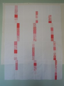 Pink Spring Rain, Baby Quilt I