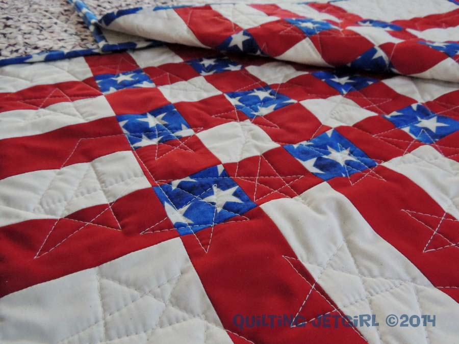 4th of July Picnic Quilt - Quilting Details