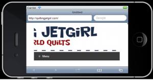 iPhone 4 Quilting Jetgirl