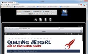 ipadpeek Quilting Jetgirl