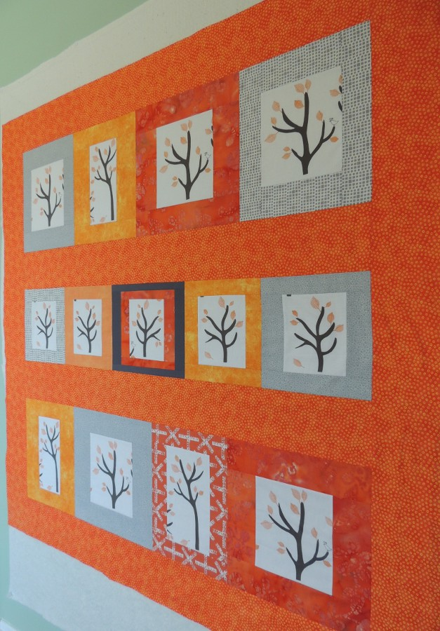 Namibia Trees Quilt Top