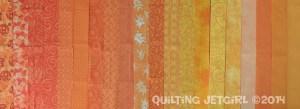 "Orange Crush - 2"" x 18"" Fat Quarter Strips"