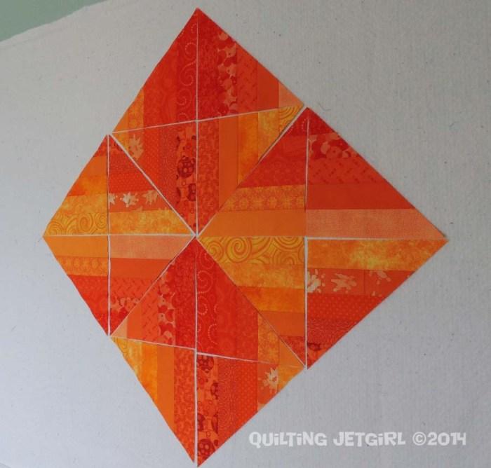Orange Crush - Each Fabric Used Once