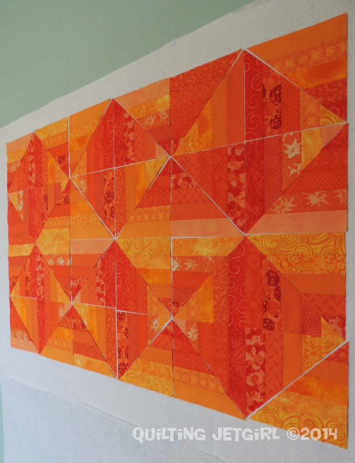 Orange Crush - Each Fabric Used Three Times