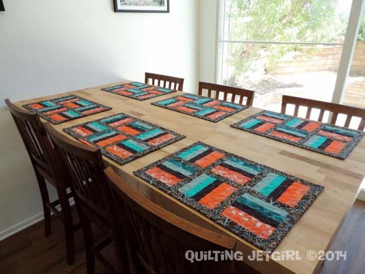 Orange Jade Placemat Set
