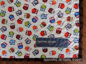 Owl City Baby Quilt - Quilting Jetgirl Label