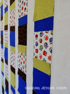 Owl City Baby Quilt - Design Wall