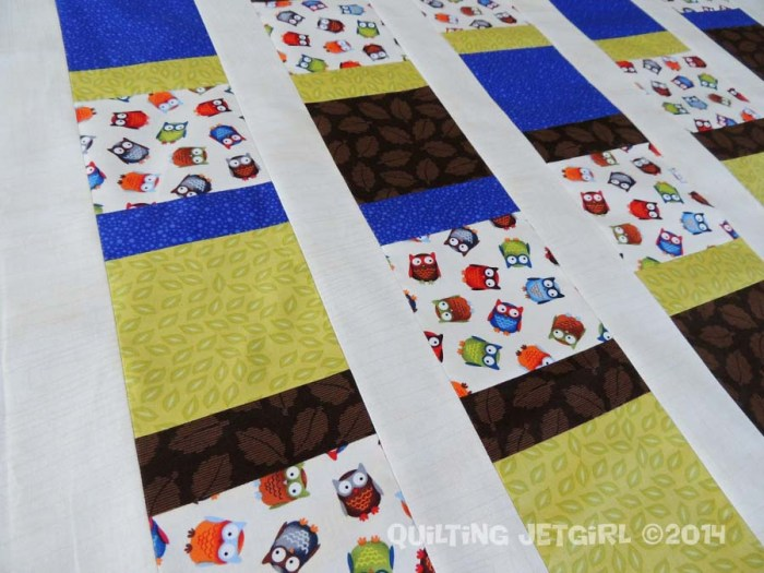 Owl City Baby Quilt - Pieced Top