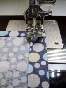 Simple Drawstring Bag - Sew Seam Down Short Edge