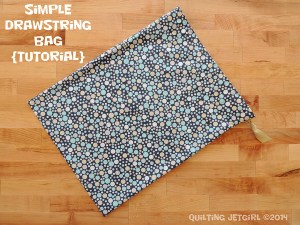 Simple Drawstring Bag Tutorial