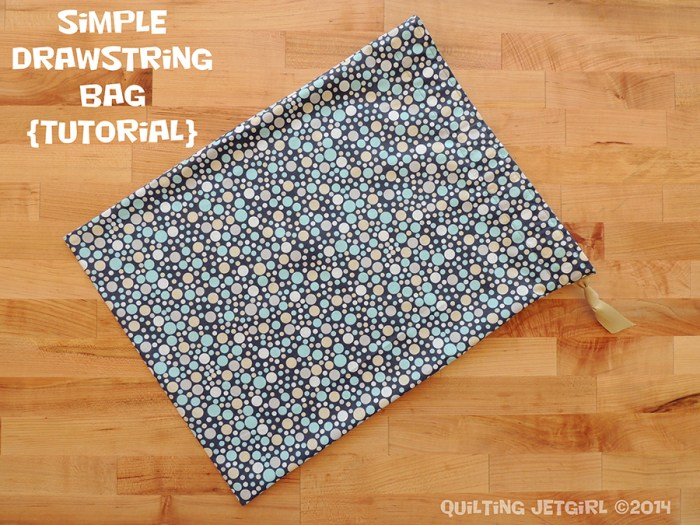 Simple Drawstring Bag Tutorial