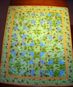 Flannel Baby Quilt - Front