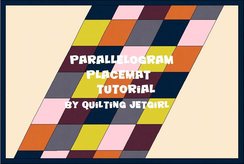 Parallelogram Placemats {Tutorial}