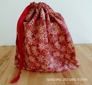 Red Snowflake Gift Bag