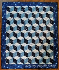 Quilt: Space Age Tumbling Blocks