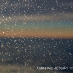 Window Frost Backlit by Sunset Between Cloud Layers - 9/18/2014