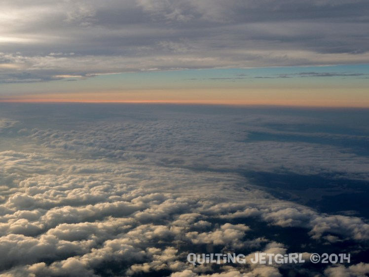 Sunset Between Cloud Layers - 9/18/2014