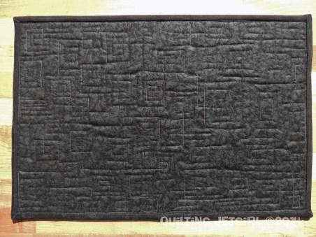 Fiestaware Placemats - Black/Gray Back
