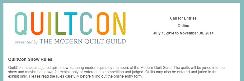 QuiltCon Quilt Show Call for Entries