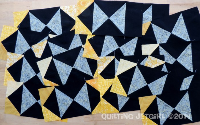 Foothills Mystery Quilt - January 2015 Blocks