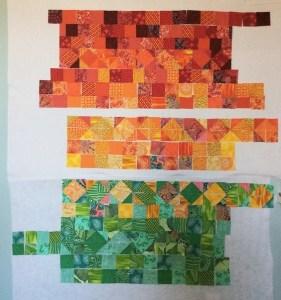 Scrap Quilt - Starting to Piece