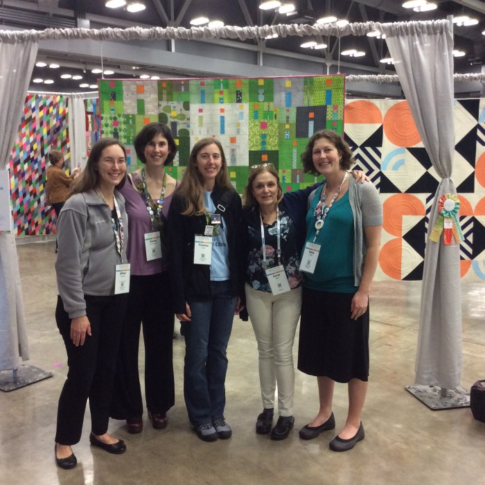 Afton @Quilting Mod, Daisy @Ants to Sugar, Me, Anne @Hudson Valley Quilts, Kitty @Night Quilter