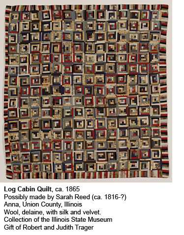 Log Cabin Quilt ca. 1865