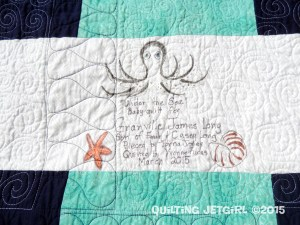 Collaborative Baby Quilt - AWESOME Label
