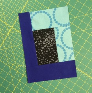 One 7x10 music/blue/black themed block