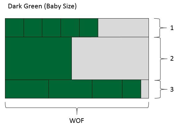 Dark Green Baby Size
