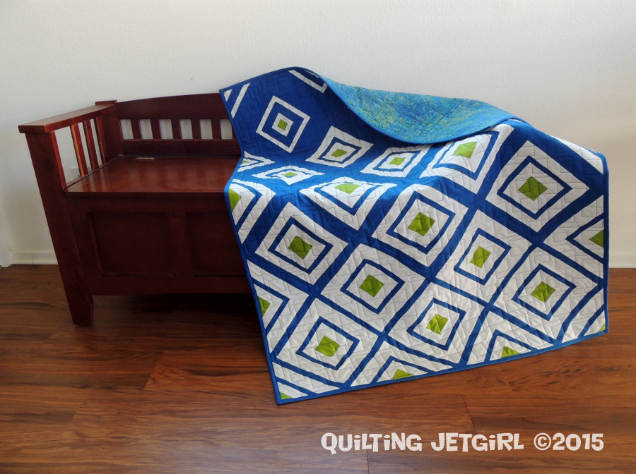 Quilt Pattern Diamonds In The Deep : Diamonds in the Deep {Friday Finish} Quilting Jetgirl