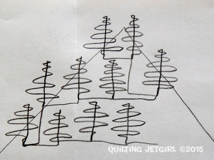 Free Motion Quilting Trees Design and Tutorial