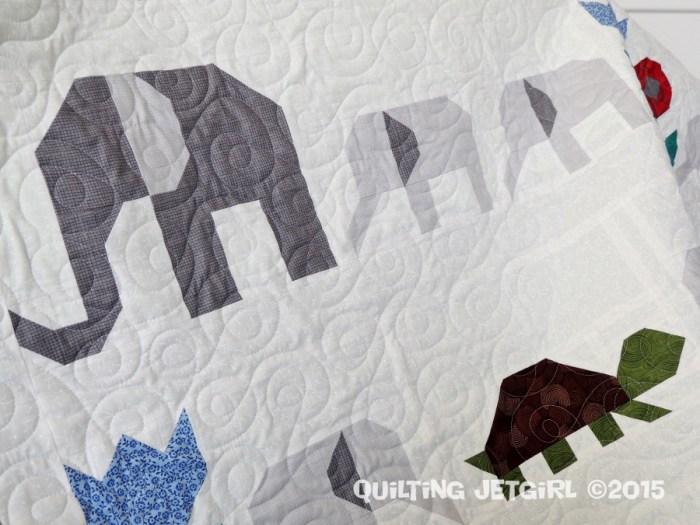 Elephant Parade - Quilting Detail