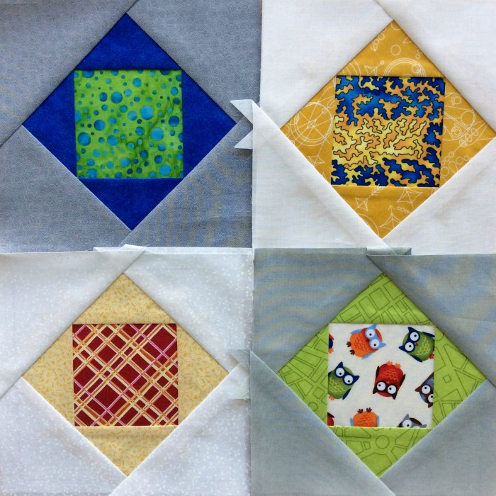March Stash Bee Blocks: Paper Pieced Economy Blocks