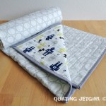 Fitted Crib Sheet Quilt: Robots