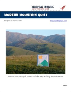 Modern Mountain Quilt Pattern