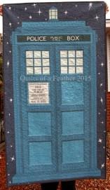 A fancy TARDIS quilt!