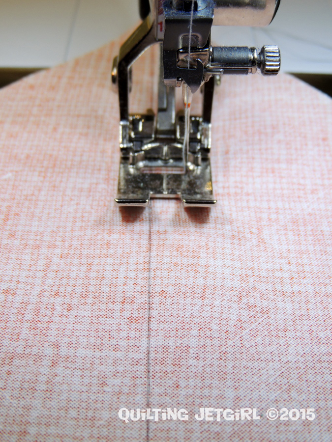 Seam Allowance Tip - Adjust Reference Point for Sewing Down Centerline
