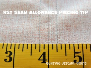 HST Seam Allowance Piecing Tip